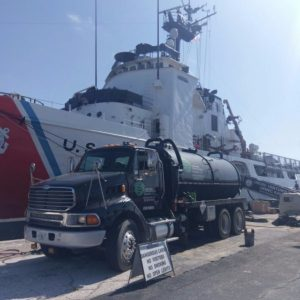 Truck and ship