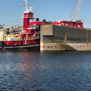 Drydock and tug